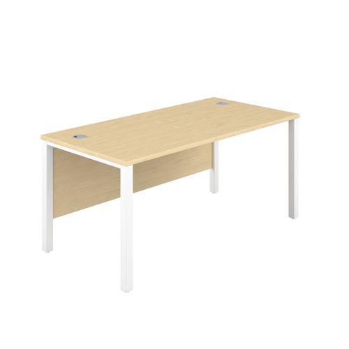 1200X600 Goal Post Rectangular Desk Maple-White
