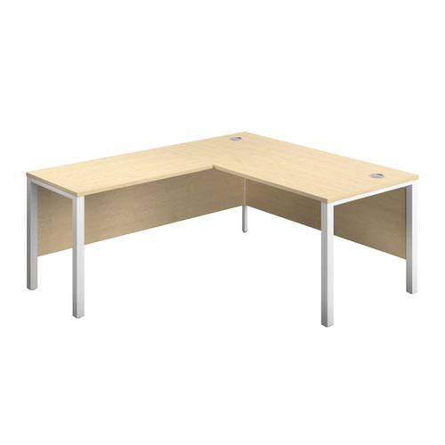 1600X800 Goal Post Left Hand Return Desk Maple-White