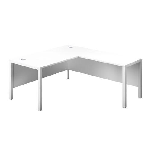 1600X800 Goal Post Right Hand Return Desk White-White