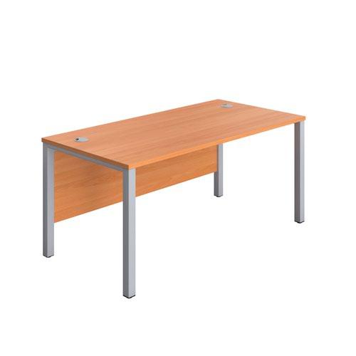 1800X800 Goal Post Rectangular Desk Beech-Silver