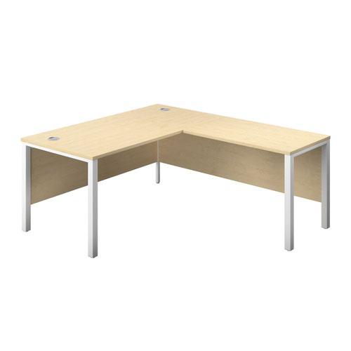 1800X800 Goal Post Right Hand Return Desk Maple-White