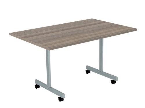 One Eighty Tilting Table 1200 X 700 Silver Legs Grey Oak Rectangular Top