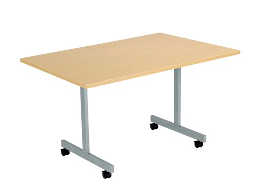 One Eighty Tilting Table 1200 X 700 Silver Legs Nova Oak Rectangular Top