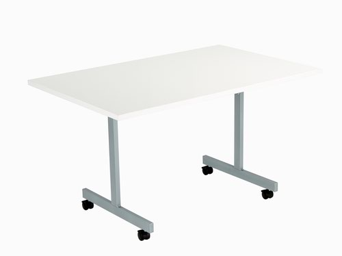 One Eighty Tilting Table 1200 X 800 Silver Legs White Rectangular Top
