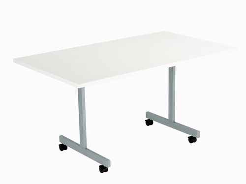 One Eighty Tilting Table 1400 X 700 Silver Legs White Rectangular Top