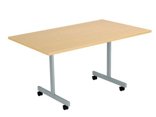 One Eighty Tilting Table 1400 X 800 Silver Legs Nova Oak Rectangular Top