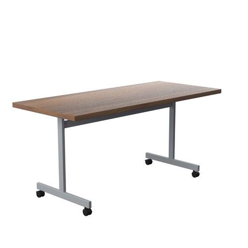 One Eighty Tilting Table 1600 X 700 Silver Legs Dark Walnut Rectangular Top
