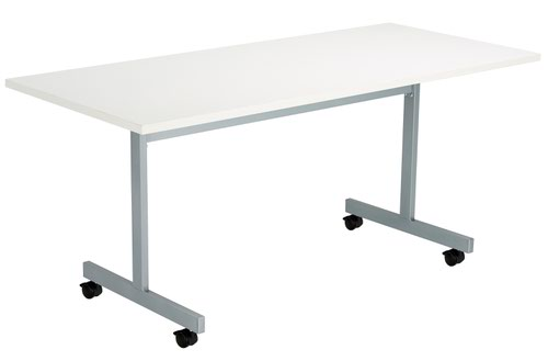 One Eighty Tilting Table 1600 X 700 Silver Legs White Rectangular Top