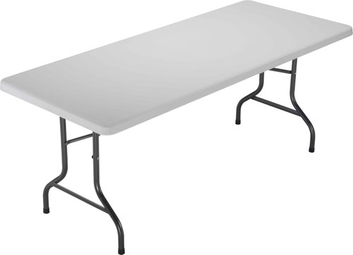 1520 Folding Rectangular Table White