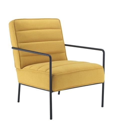 Jade Reception Chair Mustard