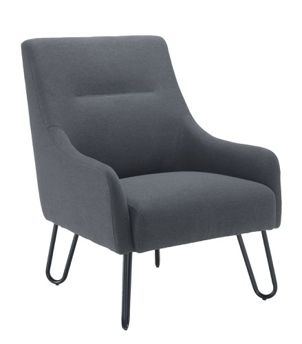 Pearl Reception Chair Grey