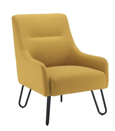 Pearl Reception Chair Mustard