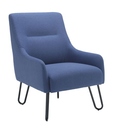 Pearl Reception Chair Navy