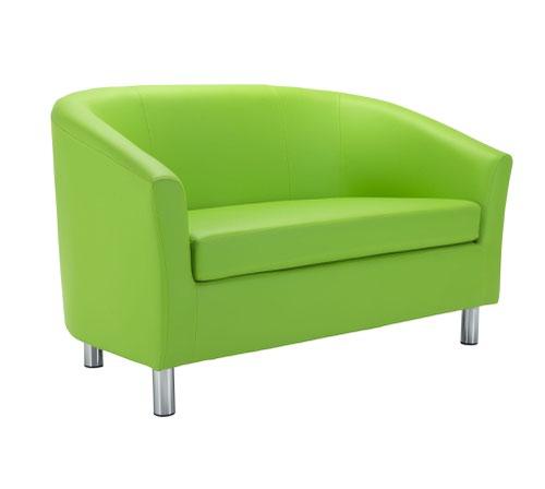 Tub Sofa PU Lime Metal Feet