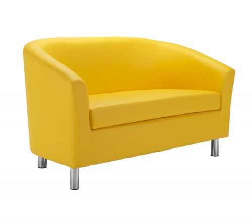 Magnificent Tub Sofa With Metal Feet Yellow Bralicious Painted Fabric Chair Ideas Braliciousco