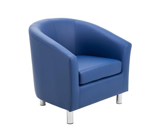 Infant Tub Chair Blue Metal Leg