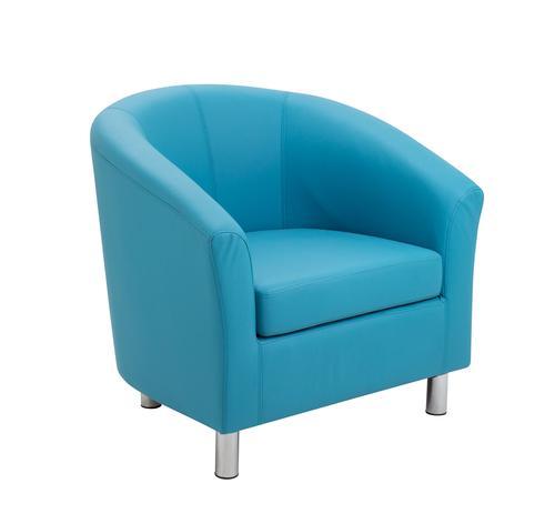 Junior Tub Chair Aqua Metal Leg
