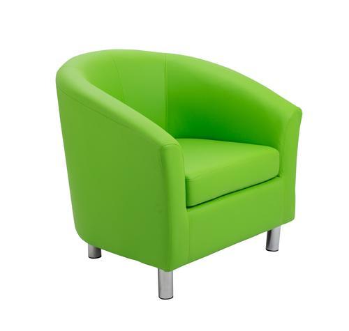 Infant Tub Chair Lime Metal Leg