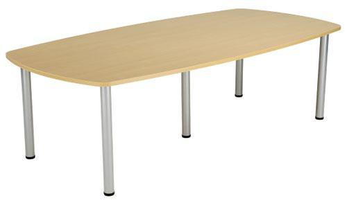 One Fraction Plus 2400 Boardroom Table Nova Oak