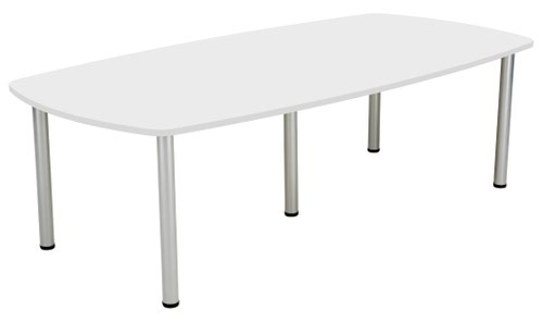 One Fraction Plus 2400 Boardroom Table White