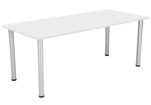 One Fraction Plus 1880 Rectangular Meeting Table White