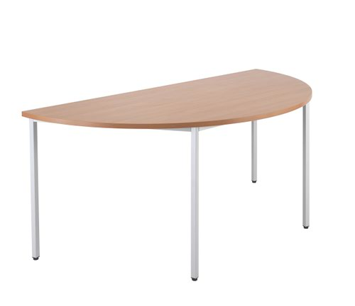 Jemini Semi Circular Table 1600 x 800mm V2 Beech OMPT1680SEMIBE2