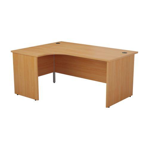 1200X1200 Panel Left Hand Radial Desk Beech