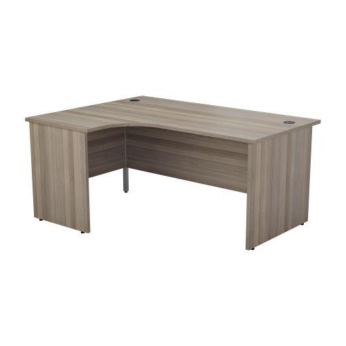 1200X1200 Panel Left Hand Radial Desk Grey Oak