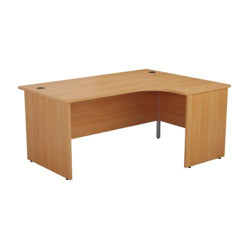 1200X1200 Panel Right Hand Radial Desk Beech