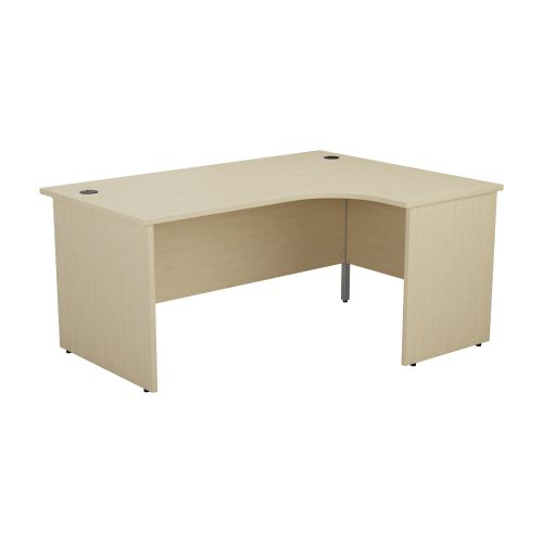 1200X1200 Panel Right Hand Radial Desk Maple