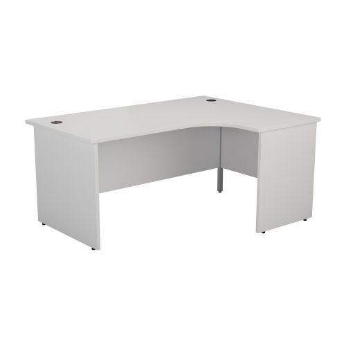 1200X1200 Panel Right Hand Radial Desk White