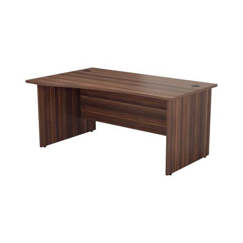 1400X1000 Panel Left Hand Wave Desk Dark Walnut