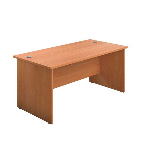 1400X600 Panel Rectangular Desk Beech