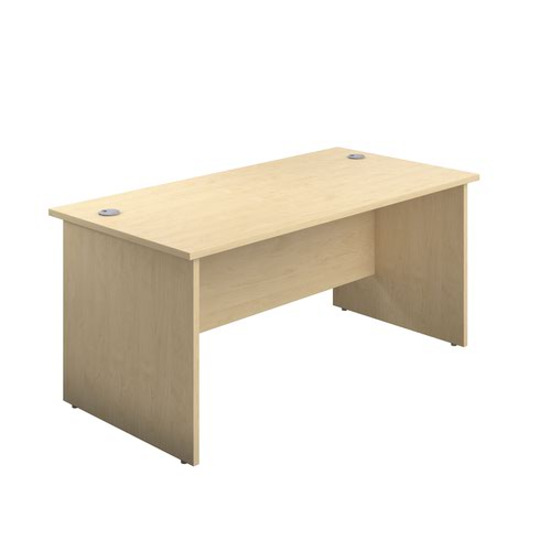 1400X600 Panel Rectangular Desk Maple
