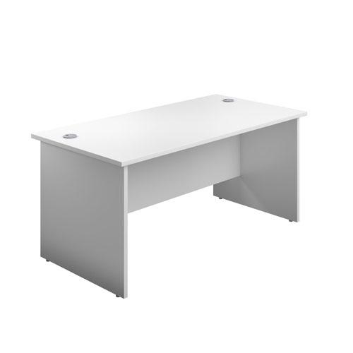 1600X600 Panel Rectangular Desk White