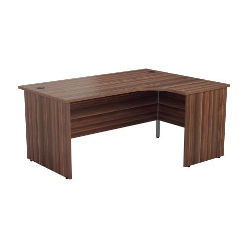1800X1200 Panel Right Hand Radial Desk Beech + Desk High 3 Drawer Ped
