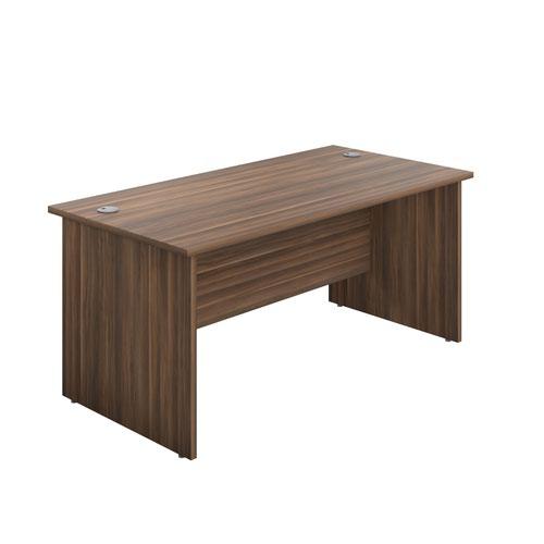 1800X800 Panel Rectangular Desk Dark Walnut