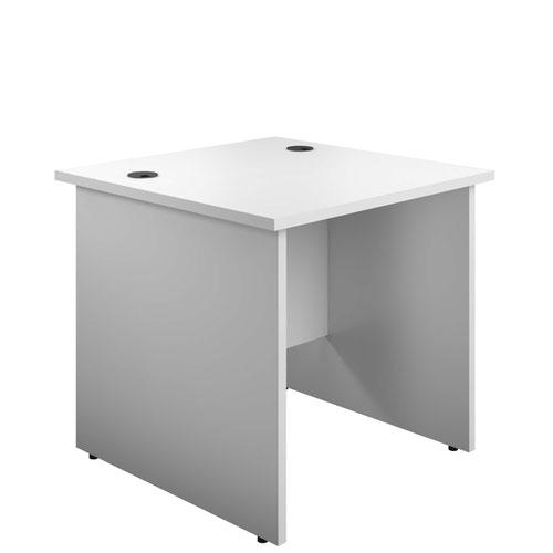 800X800 Panel Rectangular Desk White