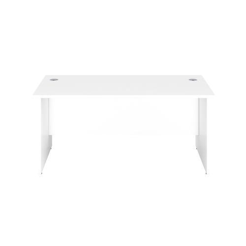 1200X800 Panel Rectangular Desk White / White