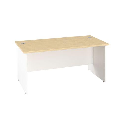 1400X600 Panel Rectangular Desk Maple / White