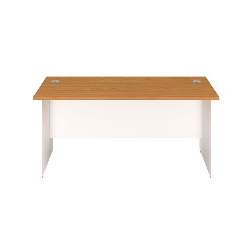 1600X800 Panel Rectangular Desk Nova Oak / White