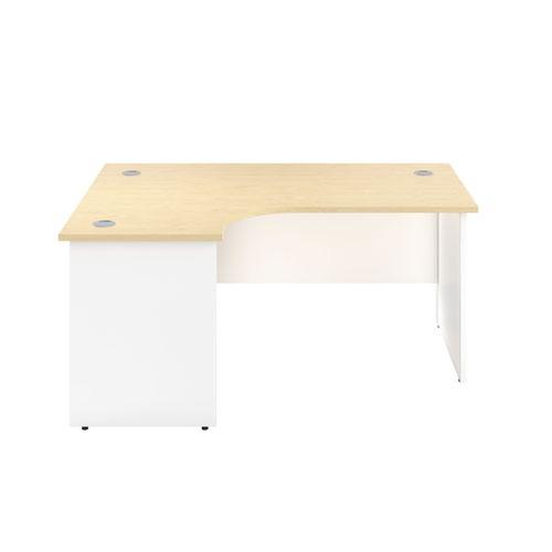 1800X1200 Panel Left Hand Radial Desk Maple / White