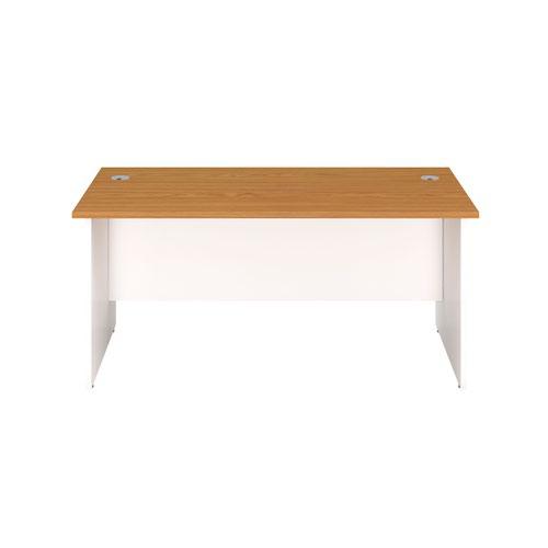 1800X600 Panel Rectangular Desk Nova Oak / White