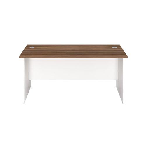 1800X800 Panel Rectangular Desk Dark Walnut / White
