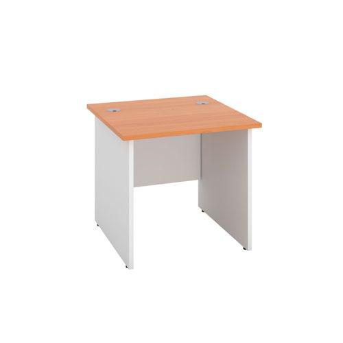 800X800 Panel Rectangular Desk Beech / White