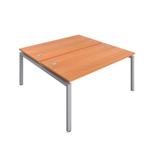Premium 2 Person Bench 1400 X 800 Cable Port Beech-Silver