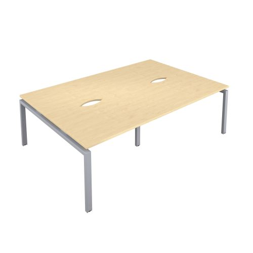 Premium 4 Person Bench 1600 X 800 Cut Out Maple-Silver