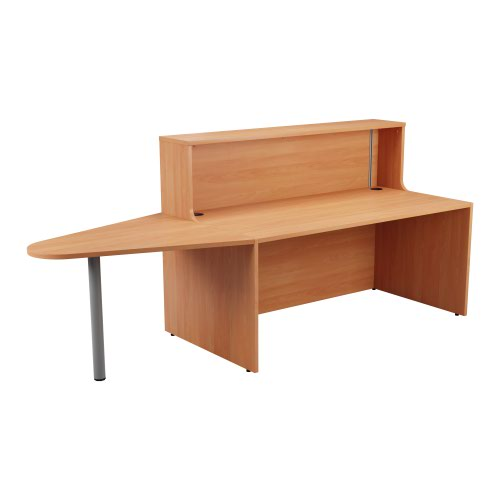 Reception Unit 1400 With Extension - Beech Sides With Beech Top Version 2