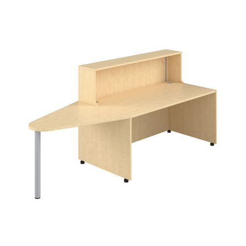 Reception Unit 1600 With Extension - Maple Sides With Maple Top