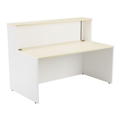 Reception Unit 1600 - White Sides With Maple Top